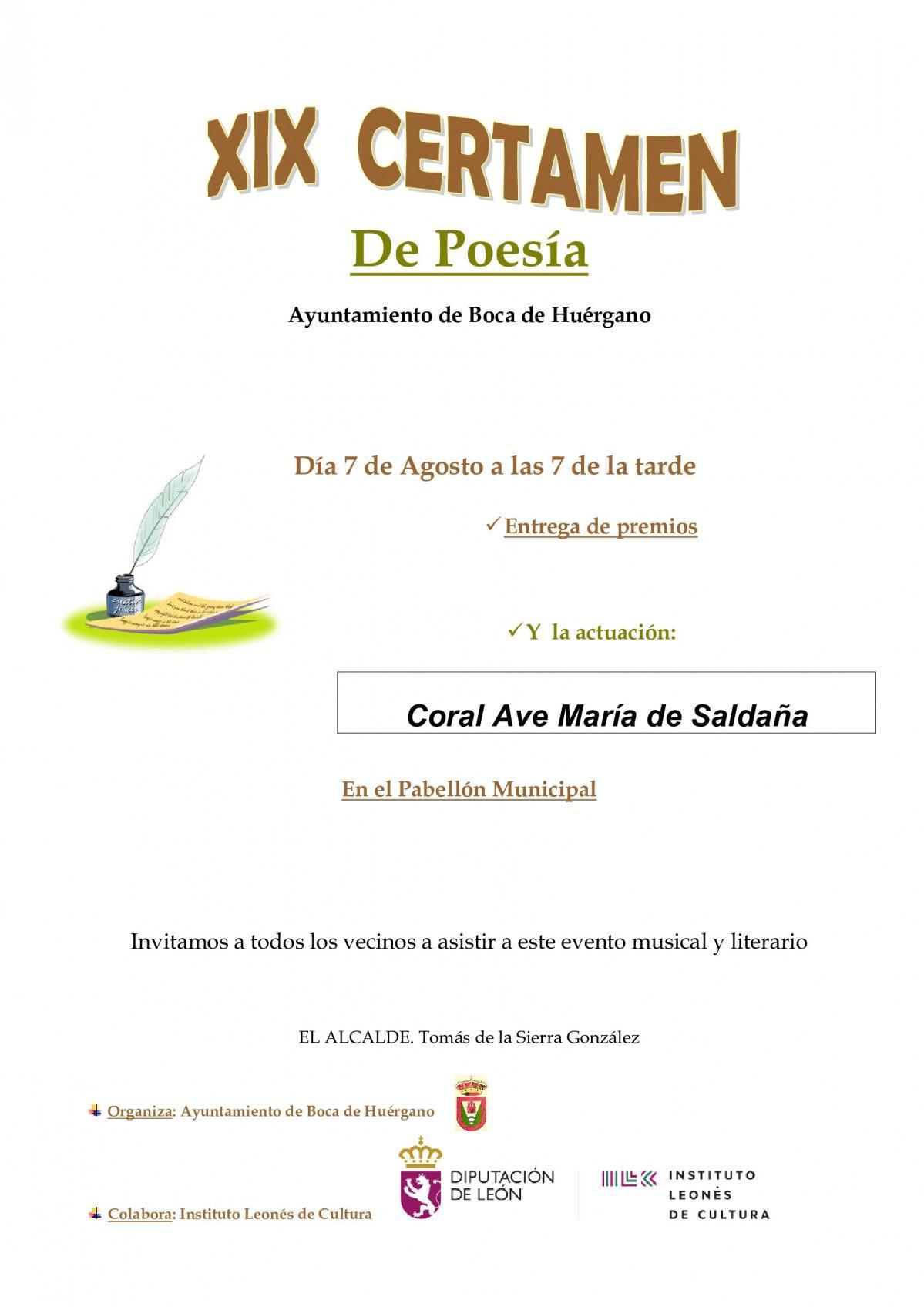 XIX Certamen de Poesía0