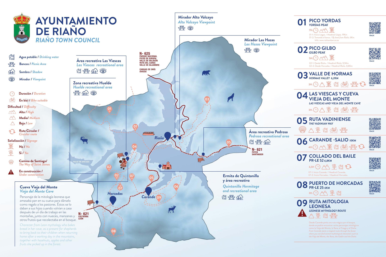 Mapa turístico: Ayuntamiento de Riaño0